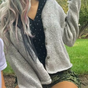 Grey button cardigan